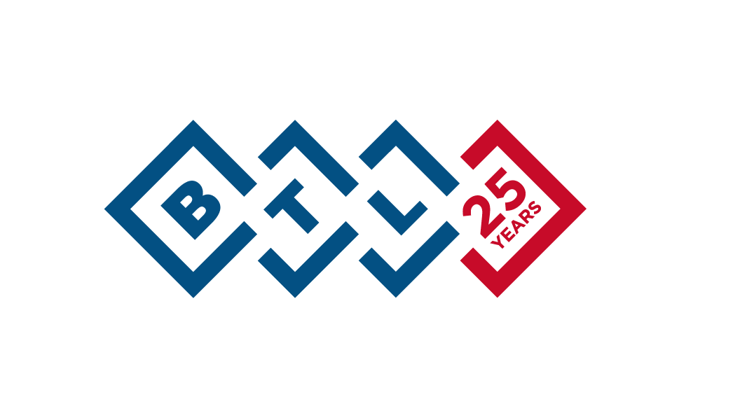 BTL PIC Logo 25 years corporate EN100